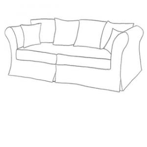 sofföverdrag till Backamo 3 sits IKEA soffa