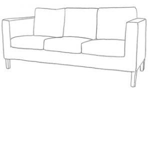 Sofföverdrag karlanda 3 sits ikea soffa