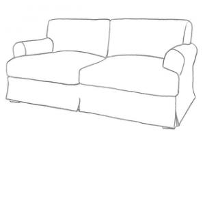 sofföverdrag till Ekeskog 3 sits ikea soffa