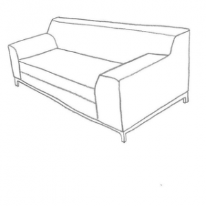 Sofföverdrag till din kramfors 2 sits ikea soffa