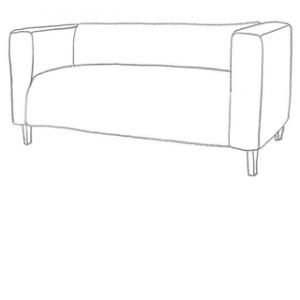 sofföverdrag till din Klippan 2 sits IKEA soffa