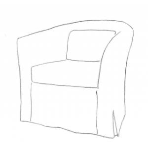 Snygga överdrag till Ektorp Tullsta Fåtölj från IKEA