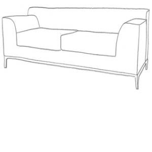 sofföverdrag till kramfors 3 sits ikea soffa