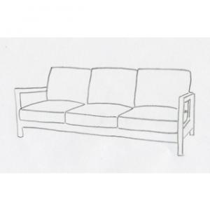 sofföverdrag till Lillberg 3 sits soffa