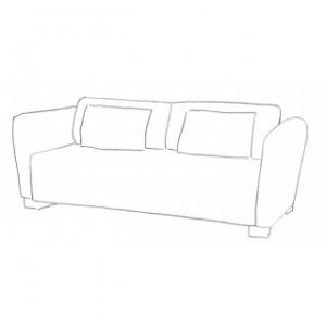 Sofföverdrag till mysinge 2 sits IKEA soffa