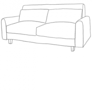 Hitta sofföverdrag till din Nikkala 3 sits ikea soffa.