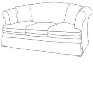 Snygga sofföverdrag till sundborn 3 sits soffa från ikea.