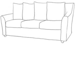Sofföverdrag till Tomelilla 3 sits soffa.